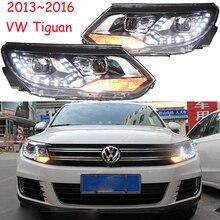 Car Styling dla Tiguan reflektorów 2009 ~ 2012/2013 ~ 2015 Tiguan LED Head light LED DRL soczewki biksenonowe reflektorów wysoki niski wiązki Parking