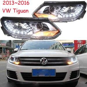 Image 1 - Автомобильный Стайлинг для Tiguan, фасветильник головного света 2009 ~ 2012/2013 ~ 2015 Tiguan светодиодный светильник фасветодиодный, ДХО, биксеноновые линзы, фасветильник дальнего и ближнего света для парковки
