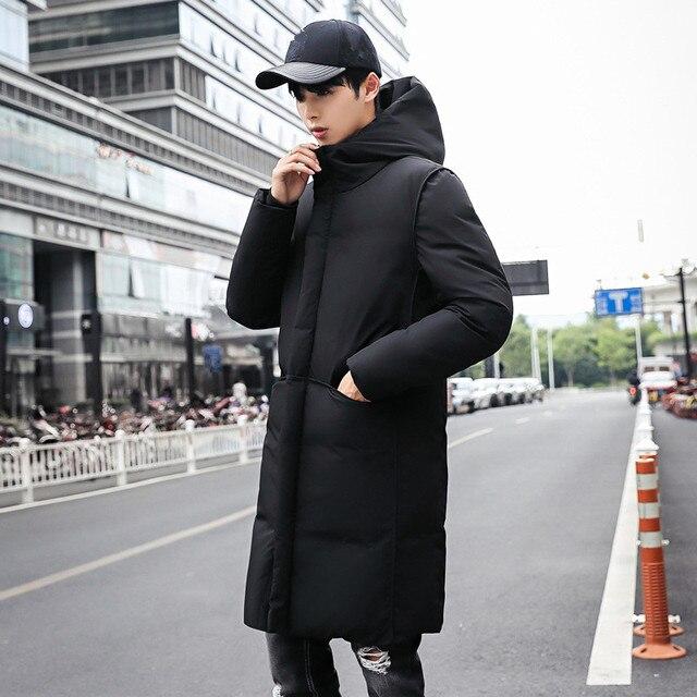 Высококачественная Зимняя Мужская парка Длинная Куртка мужская Толстая хлопковая стеганая куртка Мужская s парка пальто Мужская модная повседневная куртка 5XL