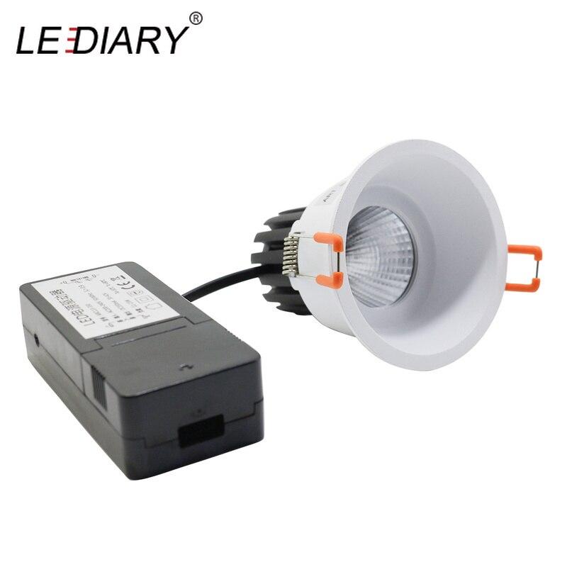 LEDIARY 75mm Cut Trou En Aluminium Source Lumineuse Remplaçable COB Downlight Rond Plafond Isolé Lampe CE Puissance 220 V 6 w/10 W/15 W