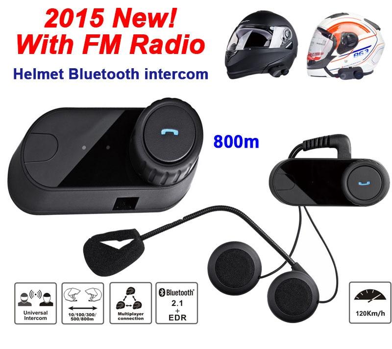 8 Hours Waterproof Bluetooth Motorcycle Helmet Intercom Headset Sport Helmets Intephone With RM Radio