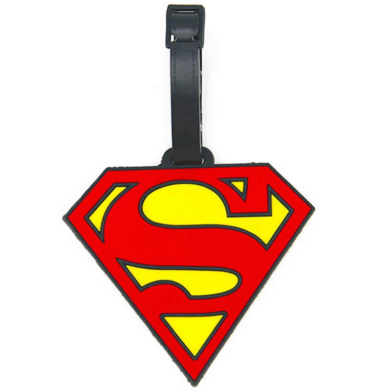 Cartoon Superman Silica Gel Luggage Tag Travel Accessories Women Men Portable Label Suitcase ID Address Holder Baggage Boarding