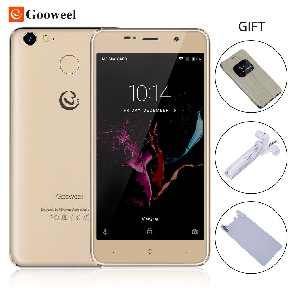 bilder für Gooweel M15 4G Smartphone Fingerprint MTK6737 Quad core 5,0 zoll IPS Android 6.0 handy 2 GB 16 GB handy Kostenlos flip fall
