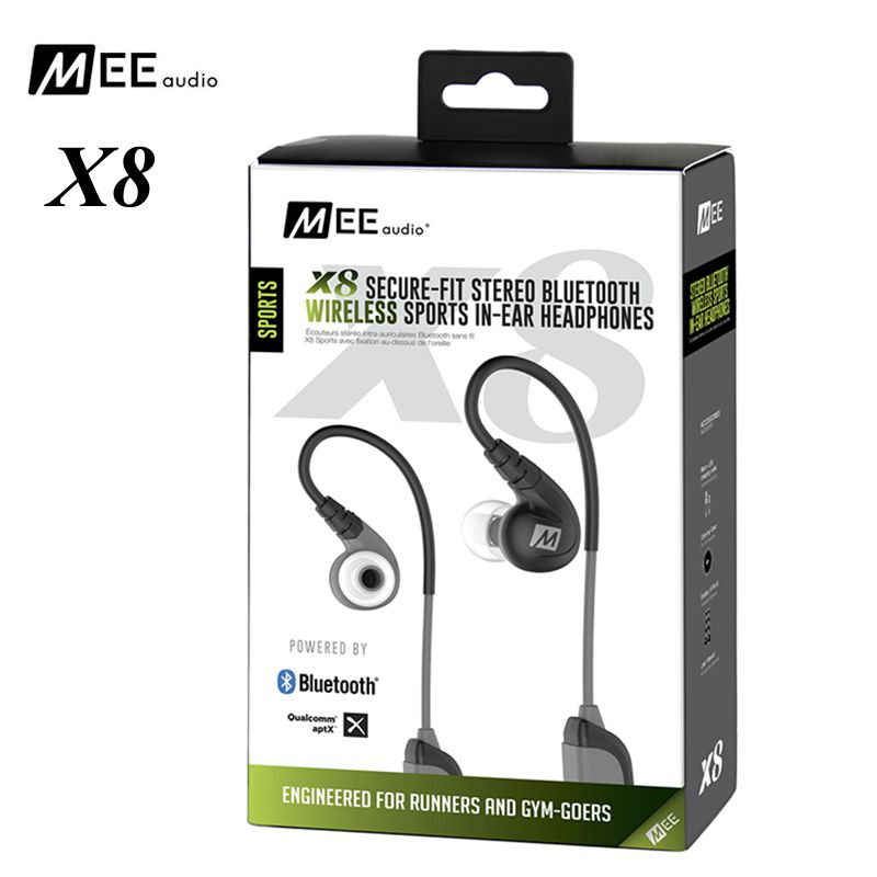 100% Original MEE Audio X8 Secure-Fit Stereo Bluetooth Wireless headphones Sports In-Ear Monitor HiFi Earphone headset drop ship