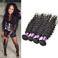 Brazilian Deep Wave Hair 8a Grade Virgin Unprocessed Human Hair Meches Bresilienne Lots 7a Deep Curly Brazilian Hair 4 Bundles