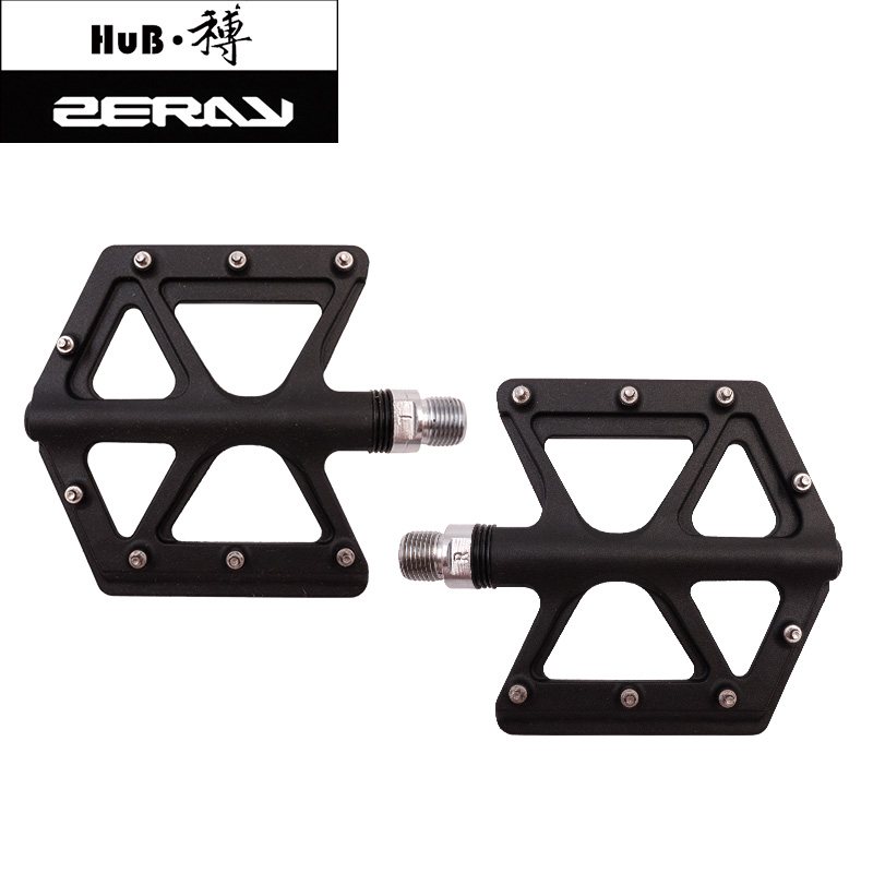ZERAY D213 fibre de Carbone Ultra-Léger VTT Plat Pédale Alliage pédale de bicyclette VTT Vélo pédales vélo accessoires vtt platfor