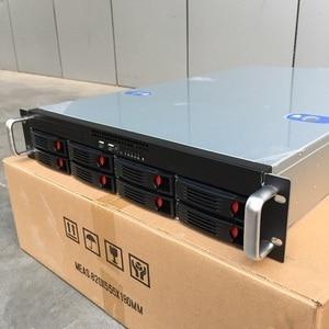Image 3 - 2U660mm 8 disk hot swappable 19 дюймовая стойка, корпус сервера, промышленное компьютерное хранилище, Интернет кафе, чехол для компьютера