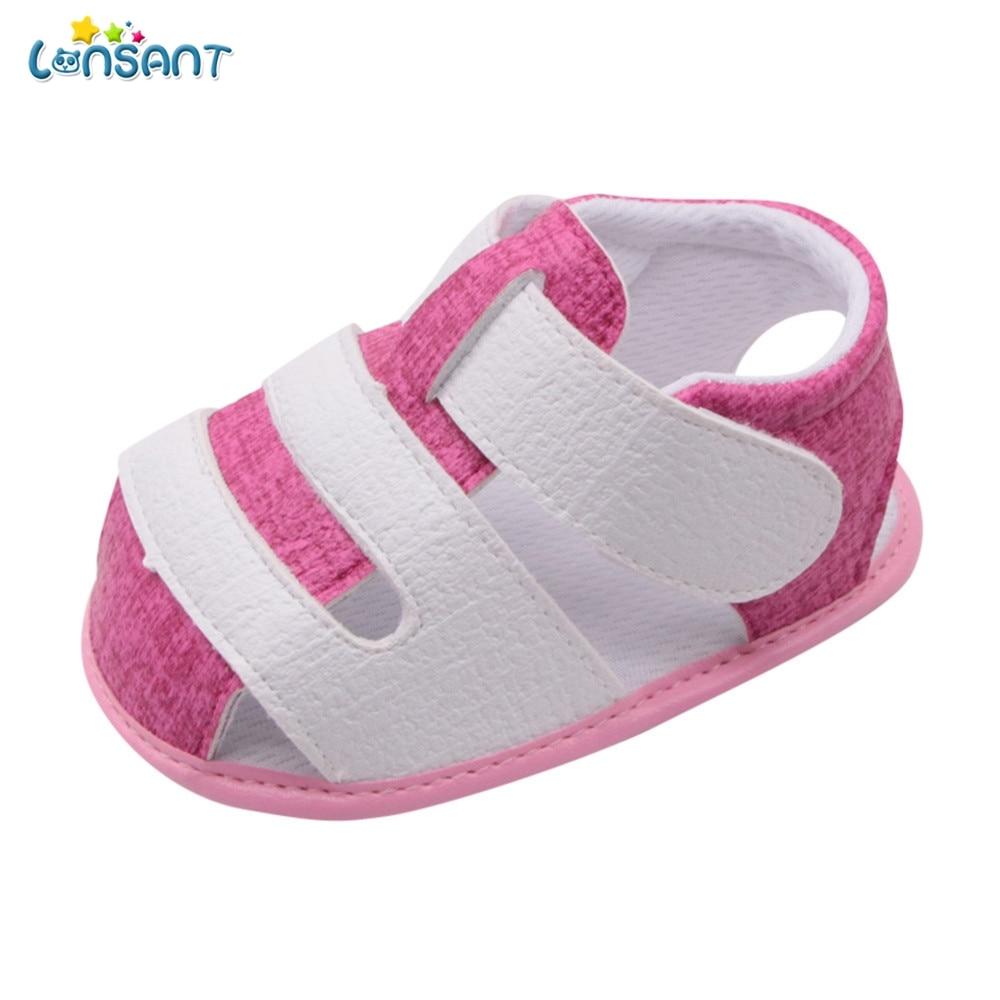LONSANT Newborn Baby Shoes First Walkers Cartoon Cat Shoes Crib Bebe Girls Princess Anti-Slip Footwear Crib Shoes Sandals N20
