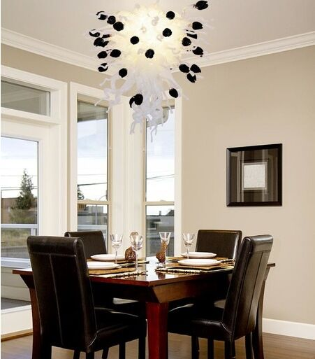 Home Design Luxury Dining Room Hand Blown Glass ChandelierChina Mainland