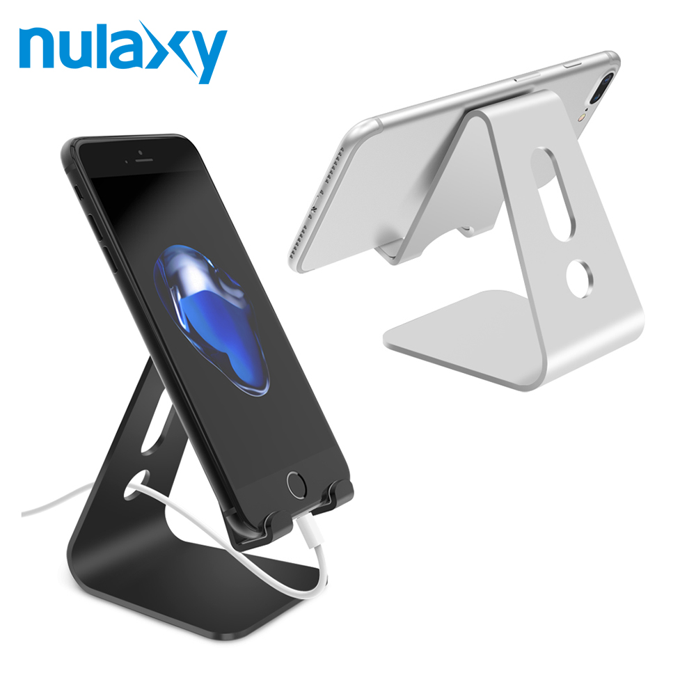 Nulaxy Universal Mobile Phone Holder Stand Aluminium Alloy Desk Holder For Phone Charging Stand Cradle Mount For iPhone Support