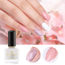 BORN PRETTY 6ml 2 in 1 Base Coat Top Matte Nail Polish Oil Texture Transparent Art Care Tool For