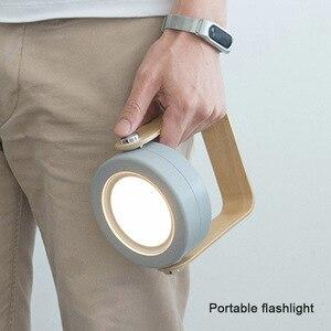 Image 5 - NEW Creative Wooden Handle Portable Lantern Lamp Telescopic Folding Led Table Lamp Charging Night Light Reading Lamp