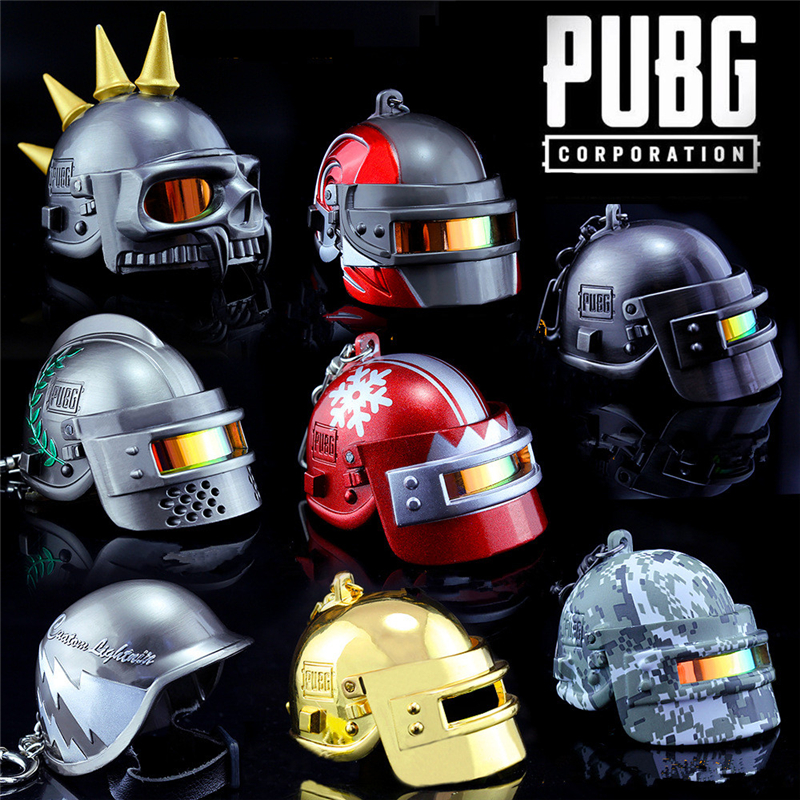 Game <font><b>PUBG</b></font> Playerunknown's Battlegrounds Cosplay Accessories Armor <font><b>Level</b></font> <font><b>3</b></font> <font><b>Helmet</b></font> Keychain Alloy Props Pendant Kids Adult Toy image