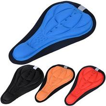Buy 4 Colors Bicycle Saddle 3D Soft Bike Seat Cover Comfortable Foam Seat Cushion Cycling Saddle for Bicycle Bike Accessories Hot directly from merchant!