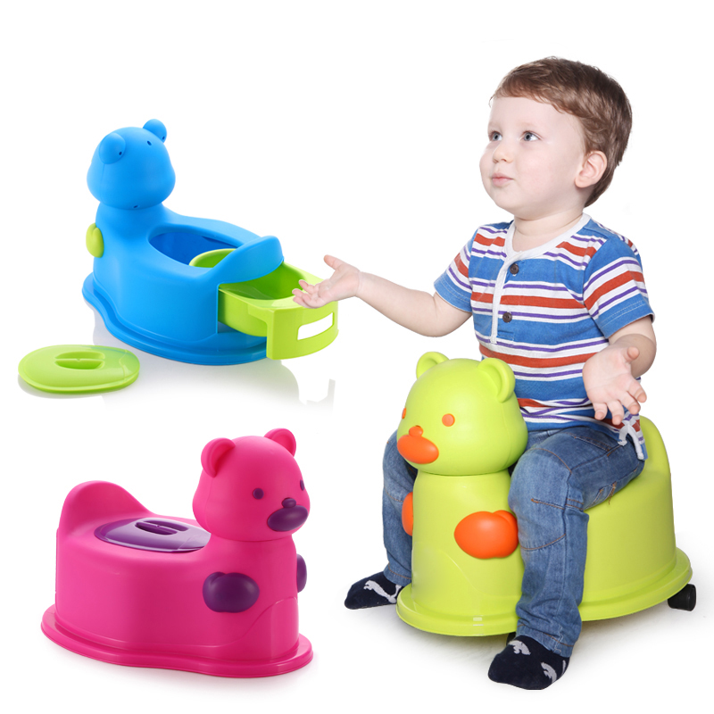 2018 Hot Sale Popular Lovely Bear Baby Toilet Potty Trainer Kids Potty Chair Training