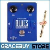 Electric Guitar Pedal True Bypass Overdrive Effect Custom Blue Biyang Controls Level Drive Guitarra Petals New