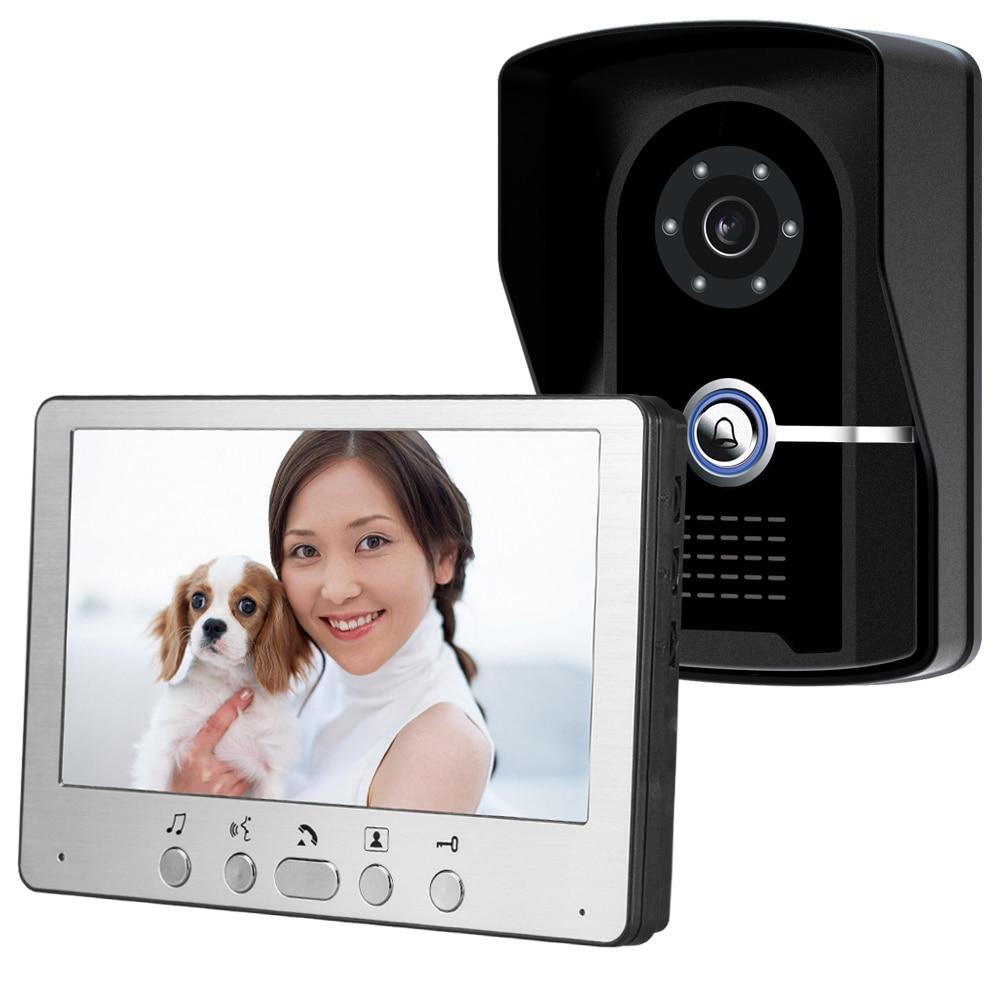 7 Inch Digital Signal Wired Intercom Video Door Phone