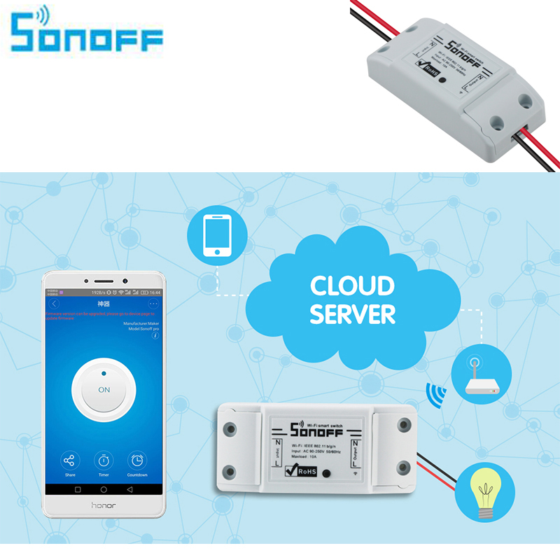 3 unidades sonoff wifi interruptor universal módulo domótico inteligente tempori