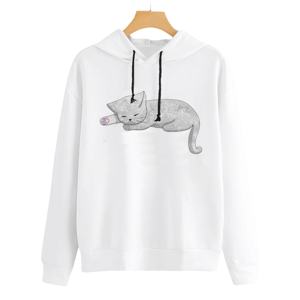 Love Heart Manatee Womens Casual Long Sleeve Hoodie Fashion Sweatshirt