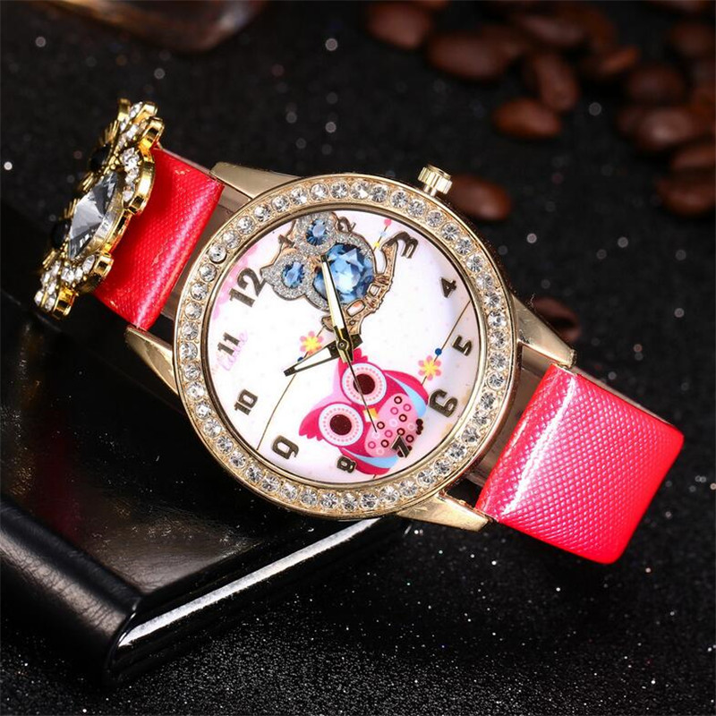 New Women's Watch Classic Owl Pattern Strap Owl Wrap Bracelet Watch 2
