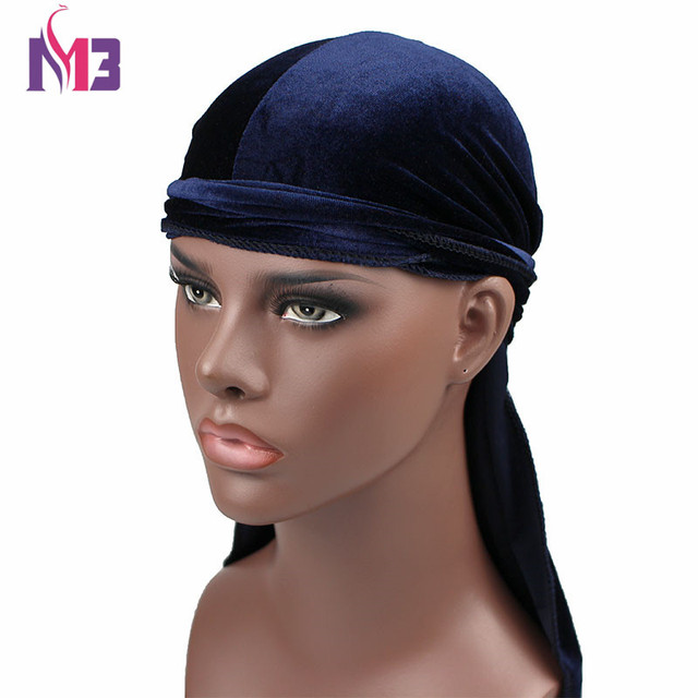 new luxury men s velvet durags bandana turban hat wigs doo durag