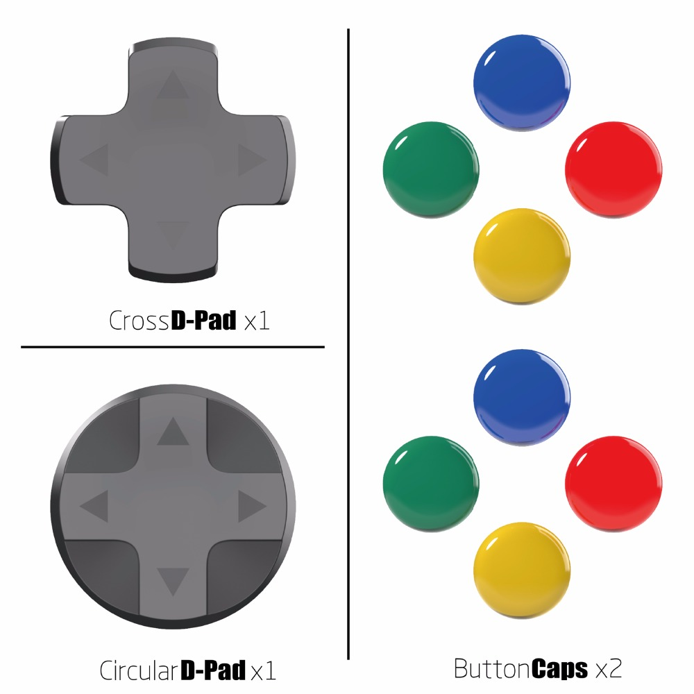 Skull & Co. D-Pad Button Cap Set Thumb Grip For Nintend Nintendo Switch Joy-Con Controller