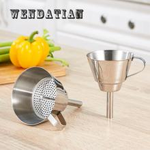 Kitchen Gadgets Specialty Tools Stainless Steel Thick Leakage Oil Funnel With Filter