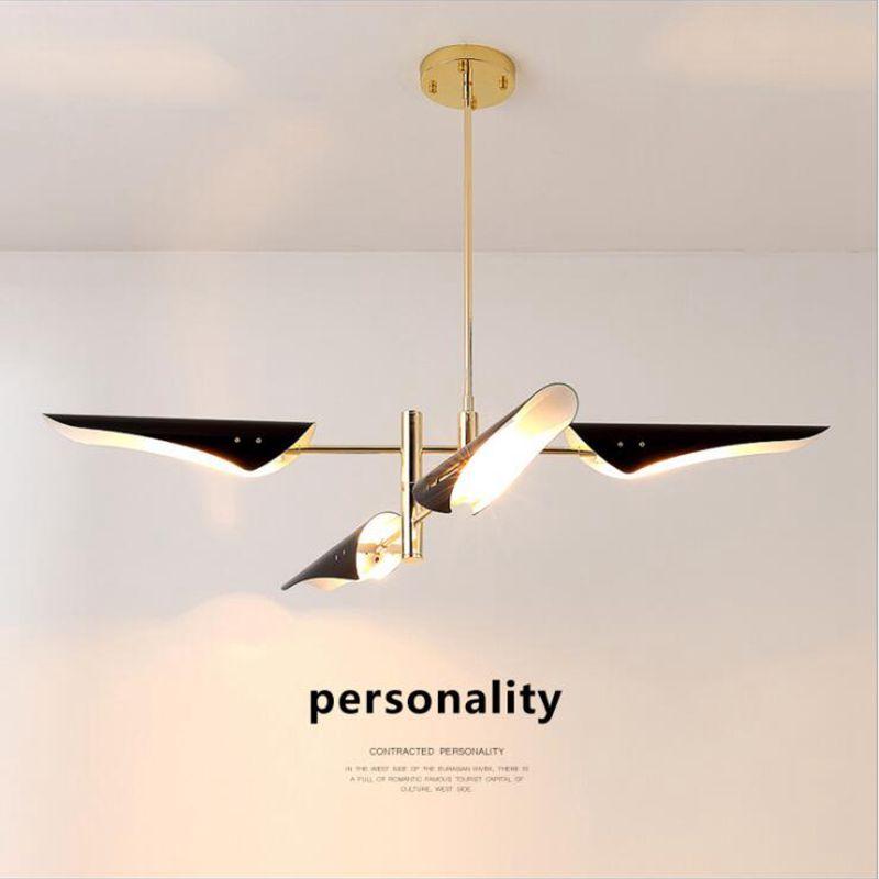LukLoy Post Modern Metal Branch Chandelier Nordic Hanging Lamp Light Lighting Fixture Creative Personality LED Pendant luminaire
