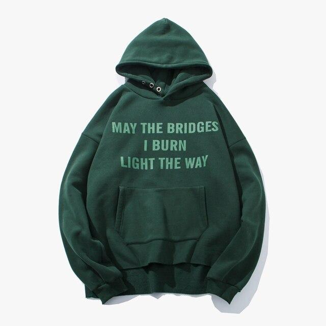 2018 New Korean Style Men's Letter Printing Coat Thicken Velvet Loose Hoodies In Warm Pure Color Sweatshirts S-2xl