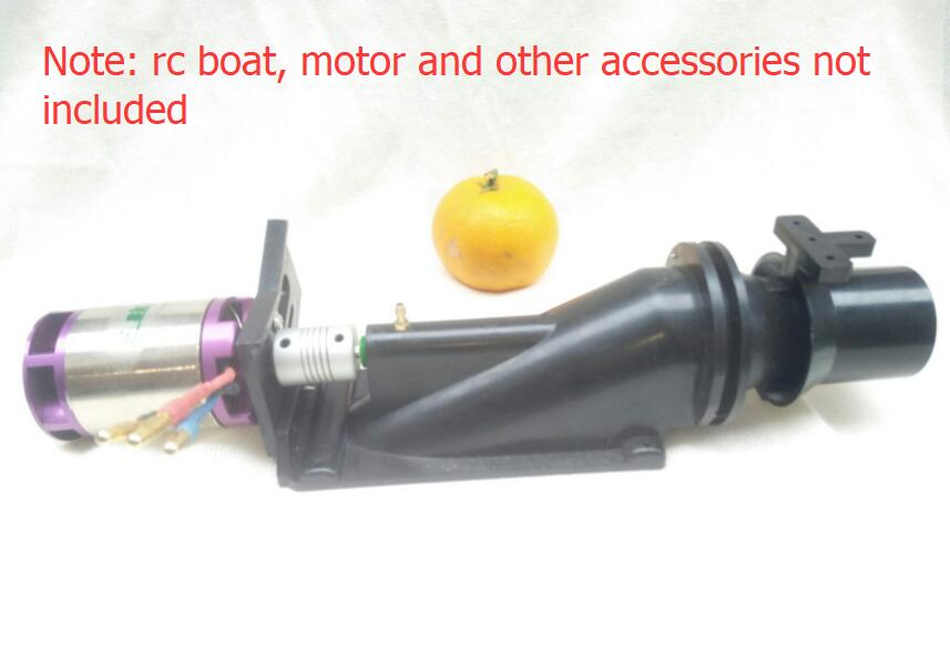 RC Jet Boat Pump Thruster 40mm Spray Water Thruster for 800-1200mm DIY Remote Control Fishing Boats DIY Model Spare Parts aluminum water cool flange fits 26 29cc qj zenoah rcmk cy gas engine for rc boat