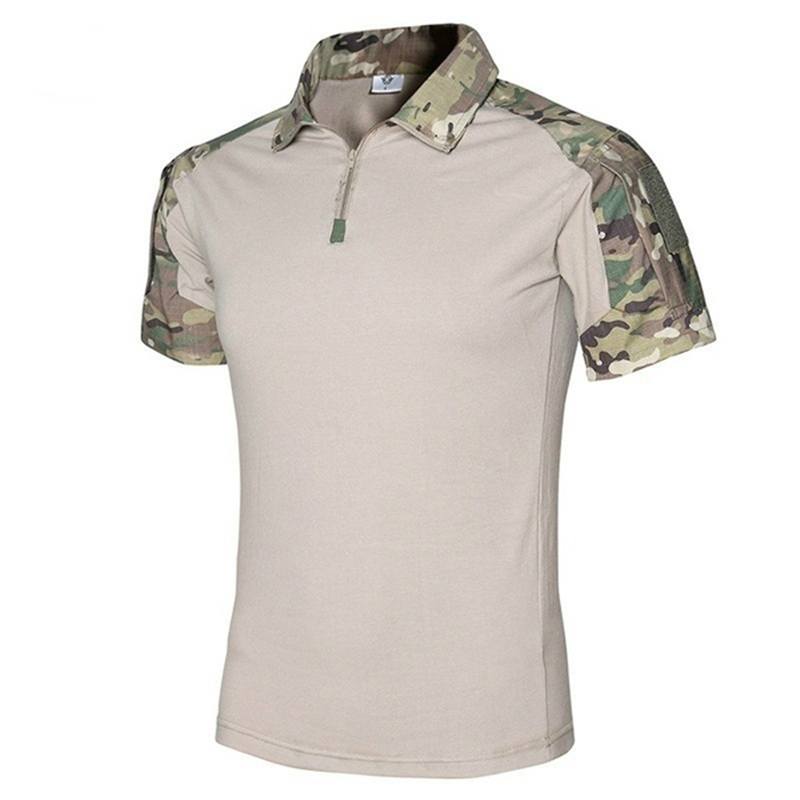 ZOGAA Brand New Men Polo Army Combat Tactical Polo Shirts For Men Military Short Sleeve Top Camouflage Men's Polo Shirt