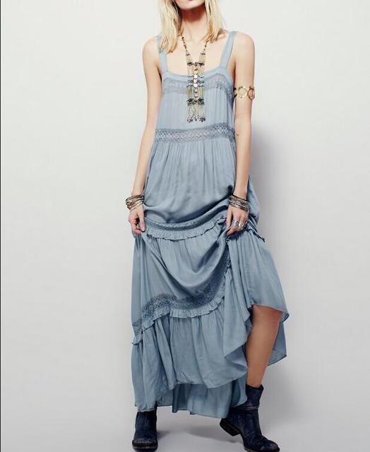 799533650e3 JOYINPARTY 2019 femmes d été robe au crochet coton maxi robe longue boho bohème  hippie
