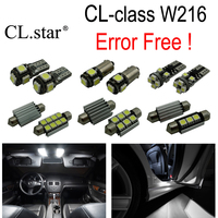17pc X canbus LED interior dome light Kit package For Mercedes Benz CL class W216 C216 CL550 CL600 CL63 CL65 AMG (2007 2014)