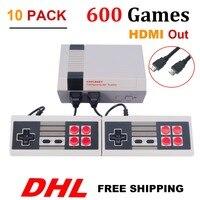 10 UNIDS HDMI Salida HD TV Mini Retro Clásico handhel Consola de Juegos Consola de Videojuegos con 500/600 Diferentes Juegos Incorporados P/N