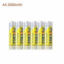 Recarregável para Câmera e lanterna e brinquedo PCS a Granel 6 Attery AA Ni-mh Recarregável 2300 2600 MAH 1.2 V Baterias ETC