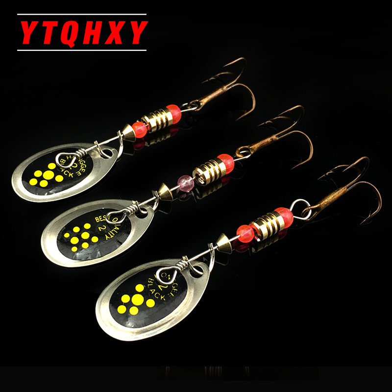 1Pcs 6cm 2.5g  Fishing Lure Hook Spinner Spoon Lures Rotating metal sequins bait Hooks Peche Jig Anzuelos De Pesca WQ8065 1pcs fishing lure pesca mepps spinner bait spoon lures with mustad treble hooks peche jig anzuelos isca pesca hq048
