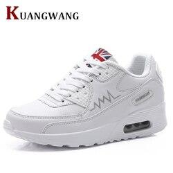Для женщин кроссовки обувь Новые Модные дышащие кроссовки женские кожаные Повседневное tenis feminino Sapato женская обувь на плоской подошве
