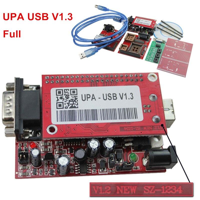 2016 New UPA USB Programmer V1.3 UPA USB Full Adapters UPA Chip Tuning Tools ECU Programmer Serial Programmer