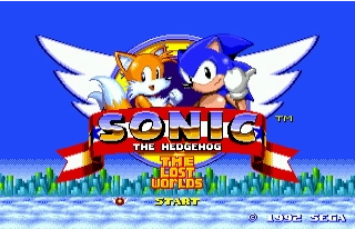 Sonic the hedgehog The Lost Worlds - 16 bit MD Games Cartridge For MegaDrive Genesis console