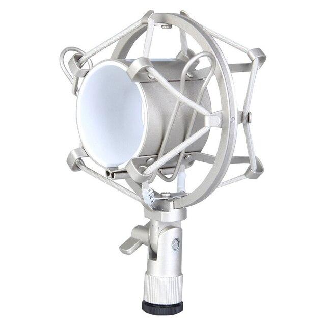 MAHA Microphone Amortisseur Pour Diamètre Micro À Condensateur Noir/Argent Fit pour La Plupart À Condensateur Large Membrane Micros