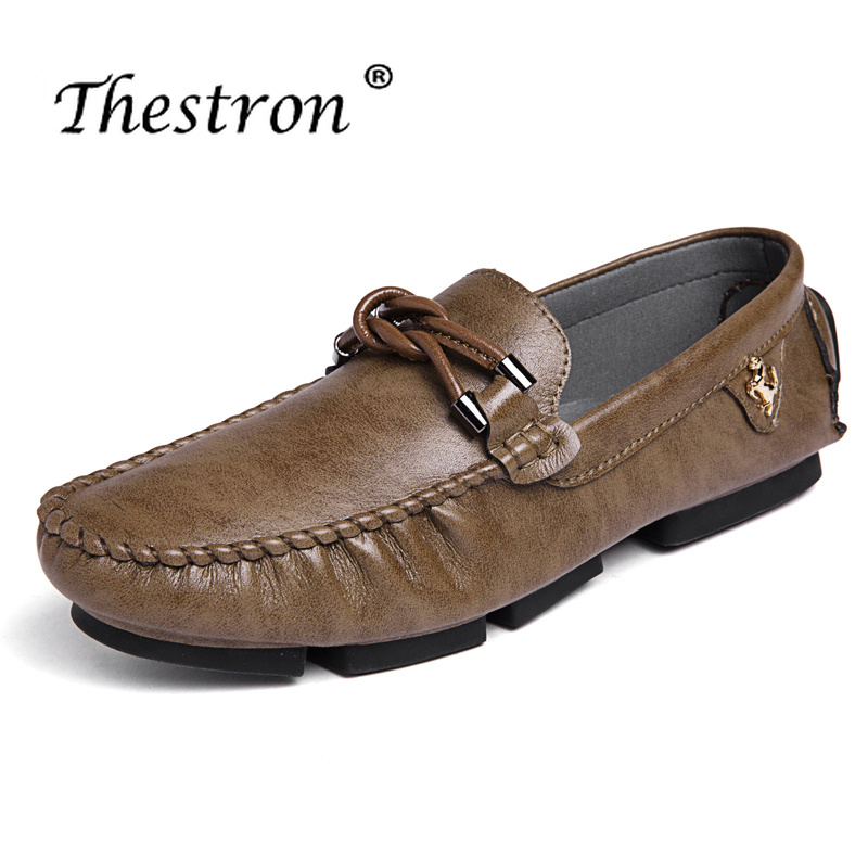 Thestron Brand Formal Shoes Men 2018 Casual Dress Black Brown Office Business Loafers Moccasins Designer