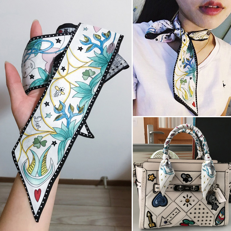 NEW ARRIVED woman scarf printing Silk
