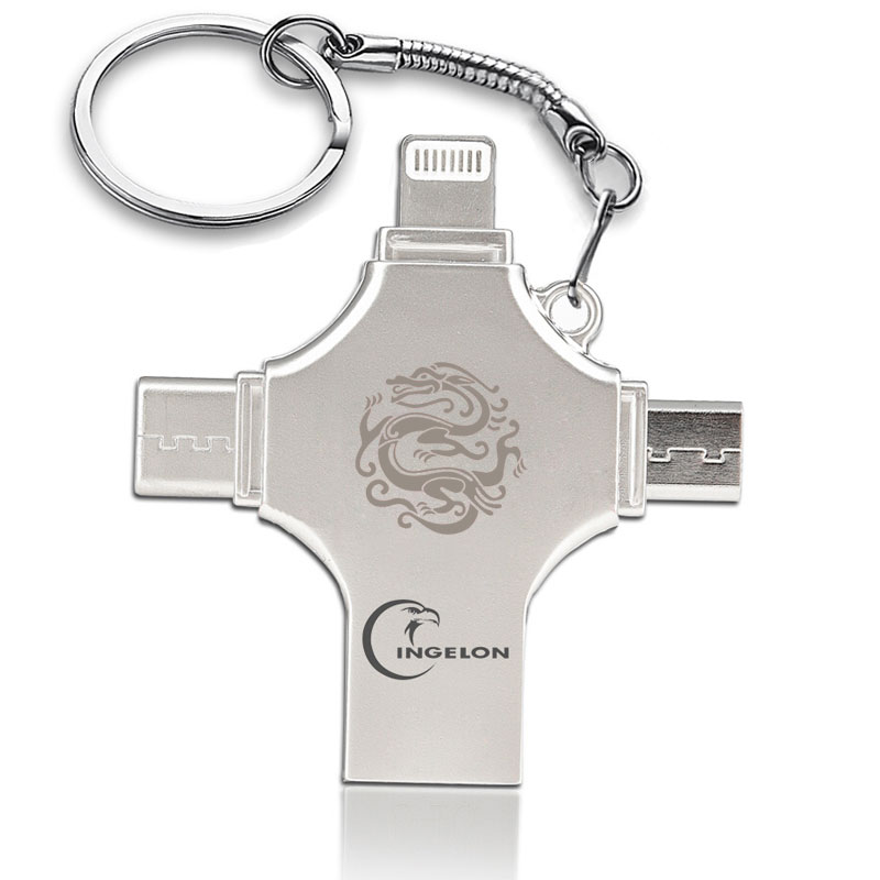 Ingelon USB Flash 16g 32g 64g 128g idragon clé usb clé USB bricolage Ankh croix licorne DJMusic métal clé usb pour iphone