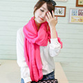 2017 Women Spring Long Scarf Shawl Summer Autumn Female Silk Scarves Solid Summer 100% Chiffon Silk Beach scarf for women