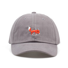 3e4c5e8335f 2018 brand hats red Fox embroidery unisex baseball cap adjustable cotton  snapback hat high quality casual