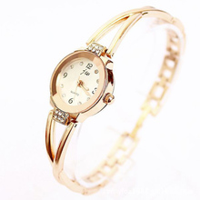 Horloges Watch Ladies Fashiones New Women Girls Gold Plated Dial Bracelet Quartz Elegant Female Dress Gift Reloje Mujer