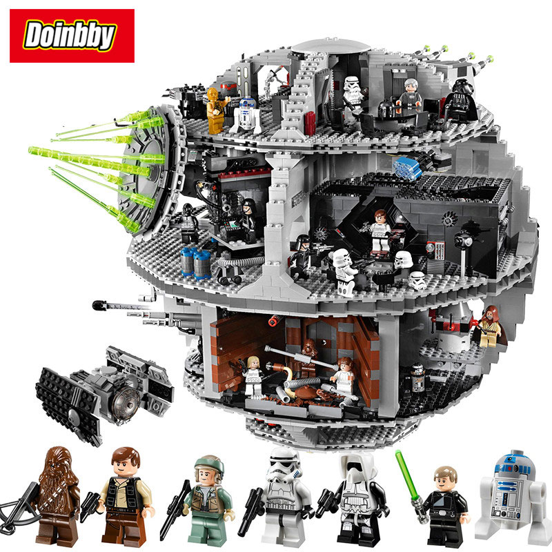 Death Star Model Building Block Bricks Toys 3804Pcs Compatible with Legoings Star Wars 10188 bela 10464 star wars death star final duel bricks building block compatible with lepin