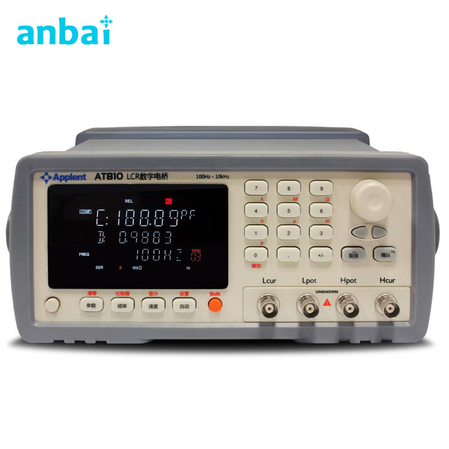 Digital LCR Meter Features Both High Performance,Highspeed Measurements with A Low Prices AT810