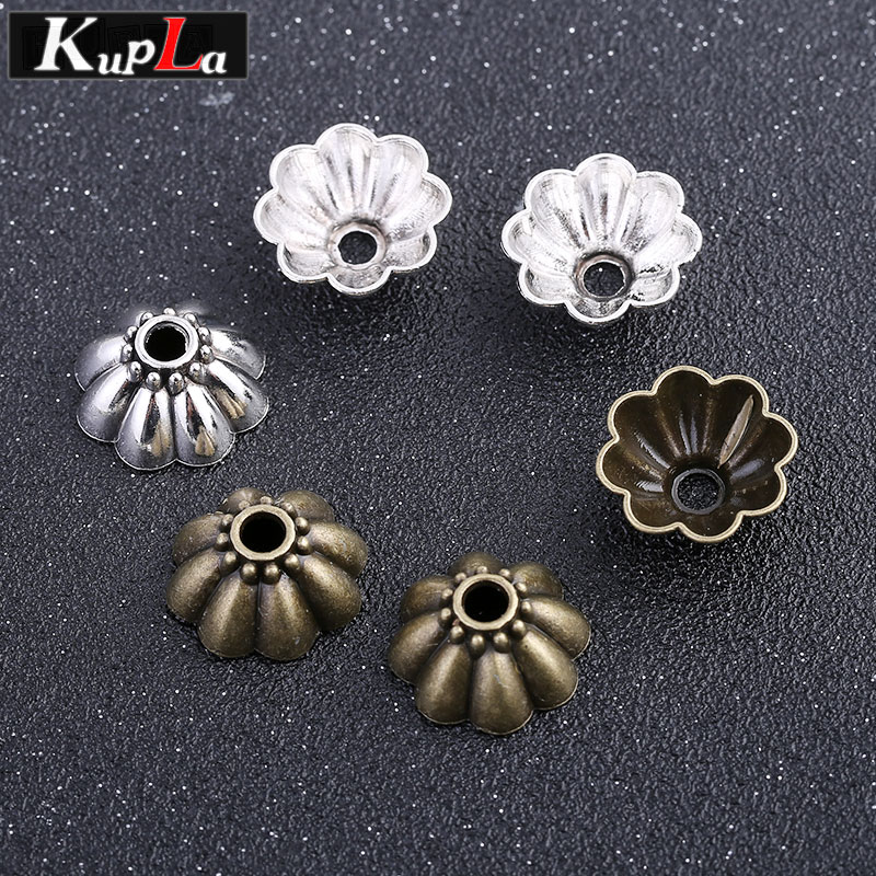 Vintage Bead Caps for Jewelry Diy Components Handmade Classic Fashion DIY Accessories Supplies for Jewelry 60 Pieces/lot