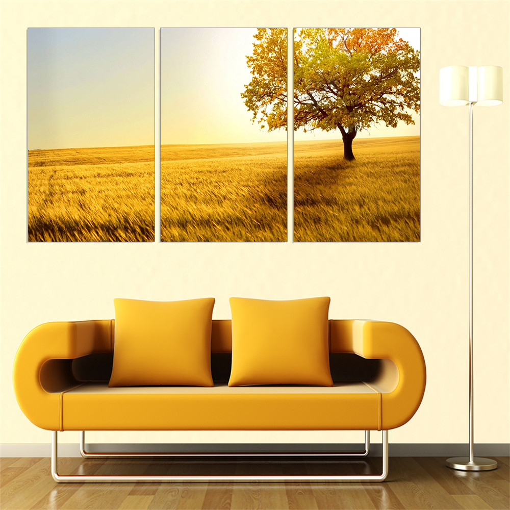 New Modular Canvas Painting Tree Landscape Posters and Prints HD Art ...